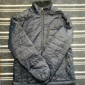 Marmot Calen Black Embroidered Puffer Jacket